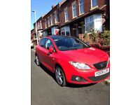 2009 SEAT IBIZA SPORT 1.4 5DR HATCHBACK PANORAMIC SUNROOF FSH AUX VERY RARE