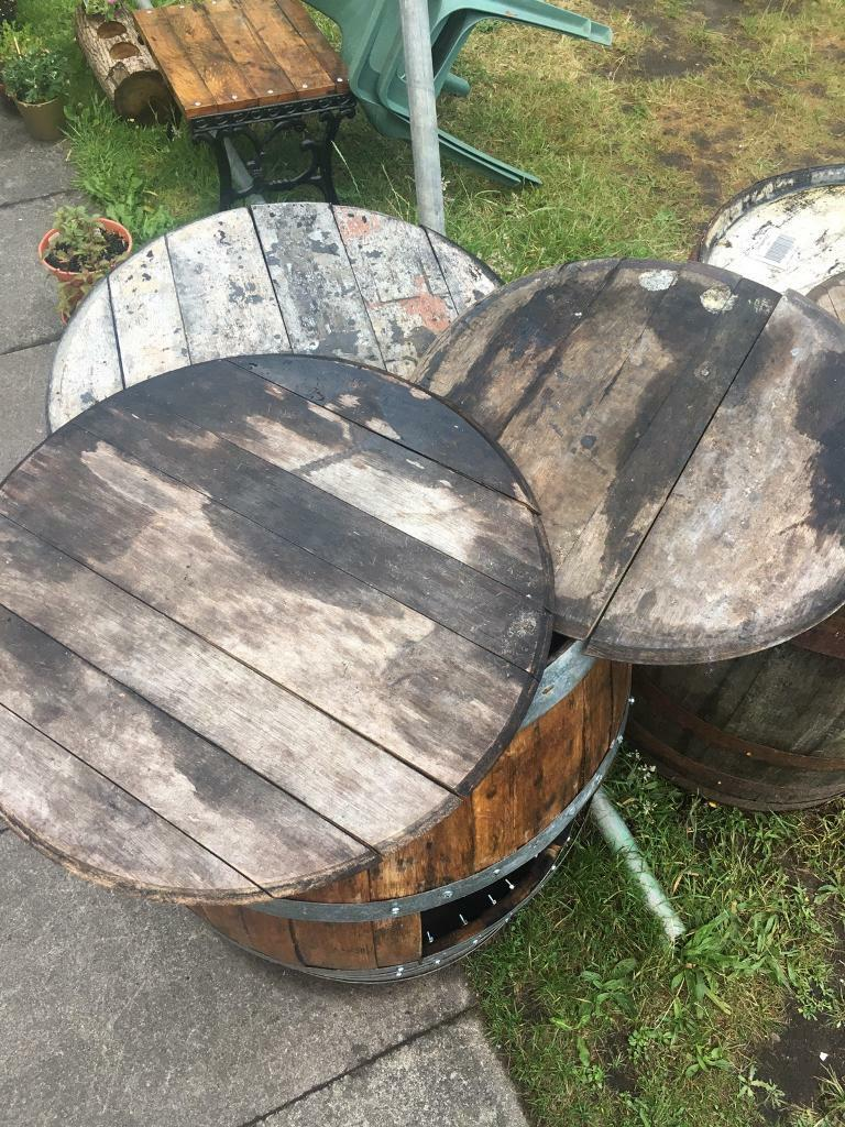 Oak Round Wooden Barrel Ends Tray Table Top Retro Projects In Camberley Surrey Gumtree