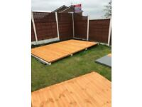 6'x4' Concrete Sleeper Garden Building Base £200.00 ALL SIZES...DELIVERY & INSTALLATION INCLUDED