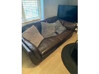 2-SEATER BROWN SOFA