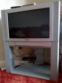 FREE - Panasonic Colour TV with Digibox and Stand (CRT Tube type) - good working order