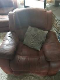 2 seater and recliner chair