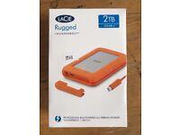 LaCie 2TB Rugged Thunderbolt & USB 3.0 Portable External Hard Drive BRAND NEW