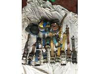 Ratchet straps job lot would suit builder, pickup, trailer or van