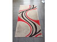 Dunelm Mirage Red Brown Neutral Medium Short Pile Rug 80x150