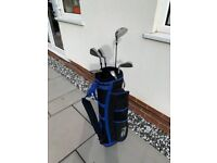 Half set of right handed golf clubs