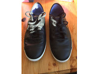Mens Nike Trainers Nike Flash Leather Black UK Size 9 as new condition