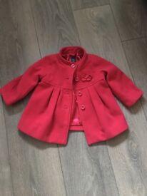 GAP baby red coat 12-18 months vgc