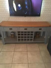 Large Grey Sideboard solid oak BIG