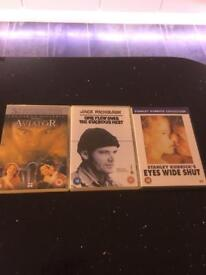 The Aviator, One Flew Over the Cuckoo's Nest & Eyes Wide Shut