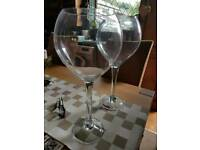 2 very large centre piece glasses