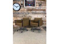 Mid Century Modern Pair of 1960s Swivel Chairs, Czechoslovakia, Retro, Vintage
