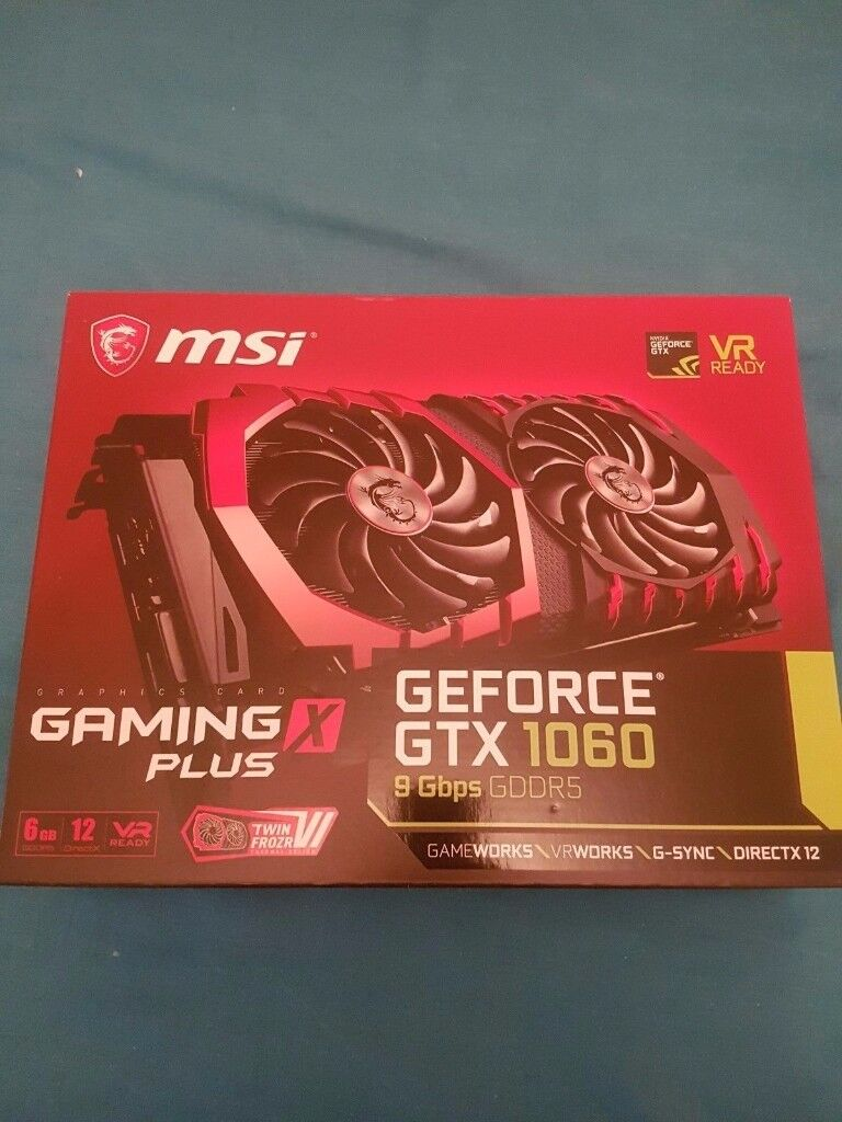 MSI GeForce GTX 1060 Gaming X 3 Dp + 6GB NVIDIA GDDR5- VR 4 K - After burner OC