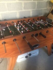 FOR SALE EXCELLENT CONDITION SOLID SOCCER TABLE £75