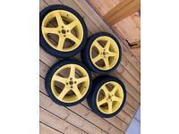 """17"""" old school khans alloy wheels"""