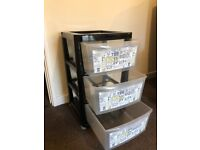 3 Drawer Plastic Storage Unit- Immaculate Condition