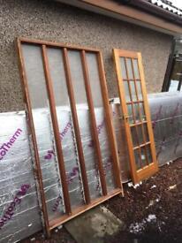 Hardwood door and screen