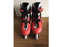 Kids rollerblades skates size 2 3 4