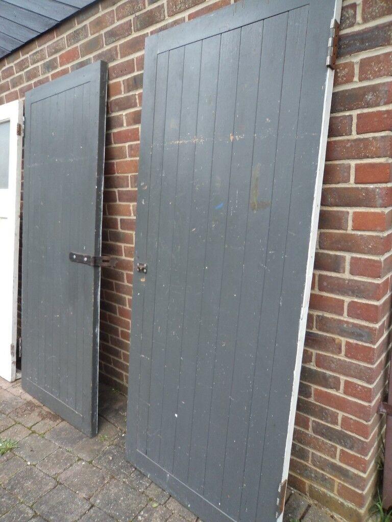2 Pairs Matching Wooden Wood Ledge Amp Brace Garage Doors
