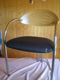 """CHROME & BEECH FINISH """"VISITOR"""" CHAIR"""