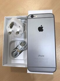 Immaculate Boxed iPhone 6 with screen protector, charger etc.