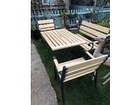 Wrought iron garden set