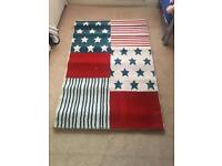 Red white and blue rug