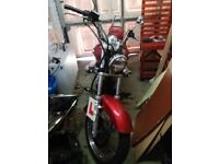 125cc Red Suzuki Intruder for sale
