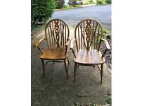 2 antique carver chairs