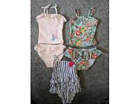 Baby girl swimming costumes 3-6, 6-9 and 9-12