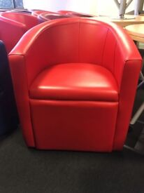 office furniture real leather tub chairs