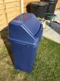 Large swing top bin
