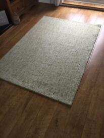 Next green 100% wool rug 120cm x 170cm