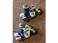 Playmobil Police Bike x 2