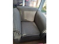 Two piece lounge seating. Chair with two seater sofa