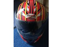 2 crash helmets