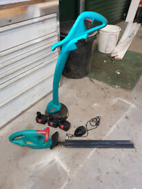 Bosch Battery Strimmer and Hedge cutter