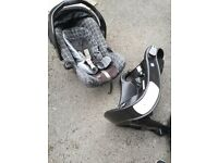 °°° GRACO °°° Carry Cot / Car Seat with Front Seat Adaptor Base