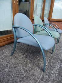 FREE Metal Frame Chair Blue
