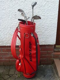 Half set of golf clubs with bag