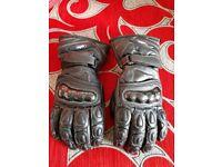 Motor Bike New Carbon Gloves Medium Size