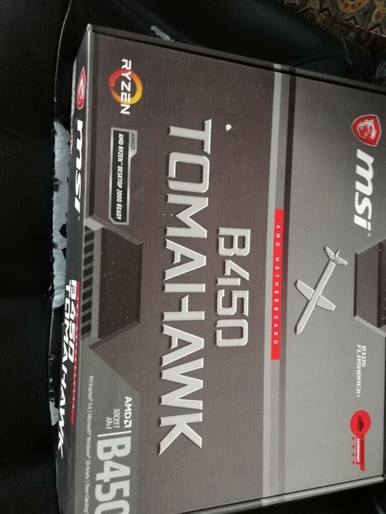 MSI B450 Tomahawk Motherboard - Unused condition  | in Gorton, Manchester |  Gumtree