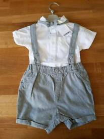 Baby boy christening wedding outfit 6-9 months new