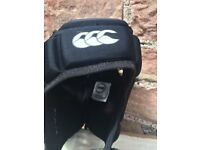 Black Canterbury rugby head guard