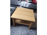 New Ikea Coffee Table 55cmx55cmx45cm in oak colour