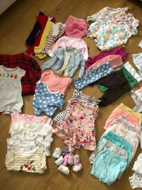 Baby girl clothing bundle size newborn to 12months