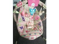 Fisher price pink woodsy friends bouncy chair as New