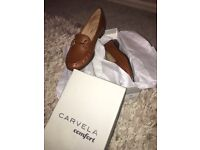 Ladies Tan Leather Shoes