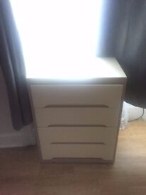 white 4 drawer dresser - has to be sold quickly because of moving