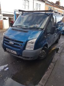 Ford transit with 3 seats at the back and shelve